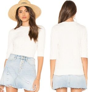 Free People Eden Textured Short Sleeve Top